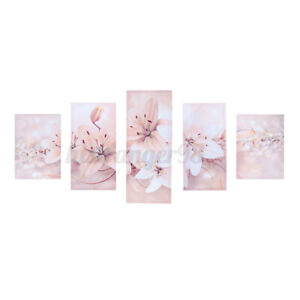 5pcs Set Flower Home Canvas Oil Painting Picture Wall Art-Living Room Decor