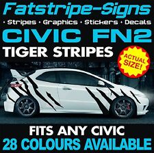 Honda Civic FN2 Tiger Stripes Graphics decals stickers VTEC TYPE R S 1.6 2.0 Jap