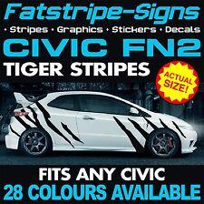 HONDA CIVIC FN2 TIGER STRIPES GRAPHICS DECALS STICKERS VTEC TYPE R S 1.6 2.0 JAP
