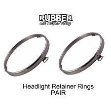 1960 - 1979 Ford Headlight Retainer Rings Pair - Chrome
