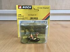 NOCH Ho Scale #11260 Ruderboot Row Boat W/ 2 Figures New-Sealed