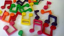 24 Resin Flat backed Colourful Musical Notes, Assorted cardmaking, scrapbooking