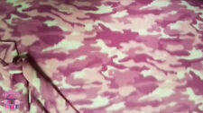 Polar Polyester Fleece Pink Camouflage Camo Fabric by the yard
