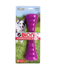 NEW Ultra Tough Outward Hound Bionic Urban Stick Medium Purple Dog Toy