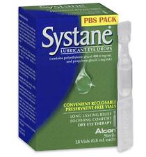GENUINE Systane Lubricant Eye Drops 28 Vials -0.8 ml Each Freepost Fast Shipping