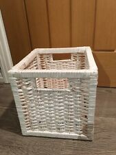 Ikea Wicker Folding Storage Box Cube