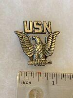 Authentic US Navy USN Enlisted Cap Hat Device LIGI