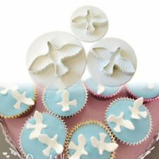 3PCS Dove Fondant Cake Cookies Paste Sugarcraft Plunger Cutter Decorating Mold