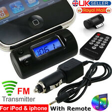 FM Radio Transmitter With Car Charger Remote For iPhone 4 3G 3GS iPod Touch Nano