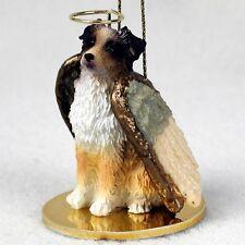 AUSTRALIAN SHEPHERD dog ANGEL ornament resin FIGURINE Christmas RED MERLE DOCKED