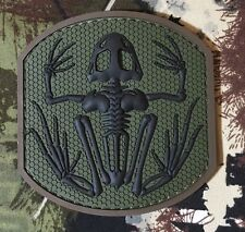 SKELETON FROG NAVY SEAL PVC TACTICAL BADGE MORALE FOREST VELCRO® BRAND PATCH