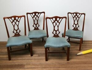 Set of artisan chairs by Betsy Zorn, dollhouse miniature, 1:12, repaired, as is