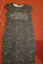NICE NEW MIDI STAR WARS SUMMER HOLIDAY PARTY WOMENS LADIES DRESS SIZE 10 disney