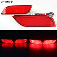 2x LED Rear Bumper Reflector Tail Brake Lamp Light For Subaru Impreza XV WRX STI