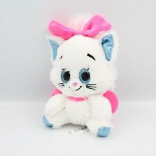 Doudou chat blanc bleu rose yeux brillants Marie Les Aristochats Disney - Chat -