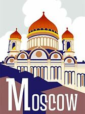 ART PRINT TRAVEL TOURISM MOSCOW RUSSIA KREMLIN DOME ROOF SKY CLOUD COOL NOFL1219