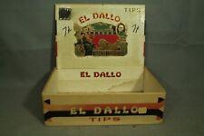 vintage old EL DALLO tips cigar box