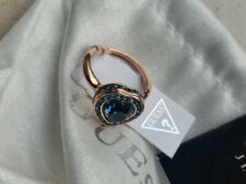 Guess Ring Green Stone Gold Gr.56 with Certificate New