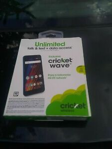 Lot of 4 NEW Cricket Wireless Cricket Wave  16GB Memory Prepaid Cell Phone  Blue