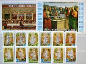 TOGO 1984 1822-33 Block 259-60 1284-1297 12 Apostles Apostel Religion Paintings