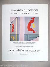 Raymond Jonson Art Gallery Exhibit PRINT AD - 1990 ~~ Chromatic Contrasts