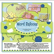 Fox Run Word Balloons Cookie Cutters New Sealed Box 5 pcs Butter Cookie Recipe