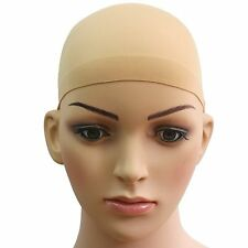2pcs hair wig cap net mesh liner snood stocking stretching breathable unisex uk