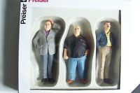 "Preiser G scale 1:22.5 THREE Befuddled Men : "" Serious Situation "" Figures 44906"