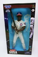 """1999 Sammy Sosa Starting Lineup Fully Poseable 12"""" Figure Chicago Cubs NIB"""