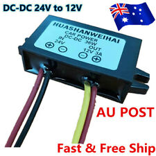 Waterproof DC-DC Converter 24V Step Down to 12V Car Power Supply Module 3A AU