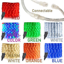 "10' 20' 25' 50' 100' 150ft Connectable 3/8"" LED Rope Light Waterproof Decoration"
