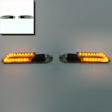 2x Universal Motorcycle Bike Led Turn Signal Indicator Amber Mini