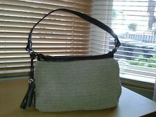 Jones Handbag Taupe with Dark Brown Handle and Edging