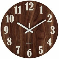 Luminous Wall Hanging Clock Glow In The Dark Home Decor Silent Battery Operated