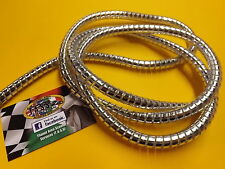 CHROME CABLE SPIRAL WRAP 10MM DIA 1.6M,FOR CUSTOM SCOOTERS, MOTORCYCLES AND CARS