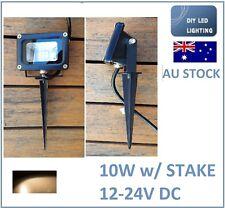 2 Pack LED Outdoor 10W 12V-24V Stake Garden Flood Light Warm rectangle B