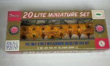 Vintage Fancy 20 Lite Miniature Set Yellow Flower Easter Christmas Lights S1