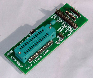ICSP Adapter ZIF 28 pin PIC use with PICkit 2, 3, or 4