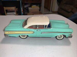 Clean!!! Vintage 1950's Edsel Tin Friction Car Japan