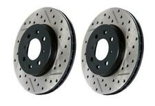 StopTech Slotted & Drilled Front Brake Rotors for 00-06 Audi TT Base - 127.33062