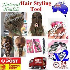 2 x Magic French Hair Braider Ponytail Bun Braided Holder Twist Braid Tool