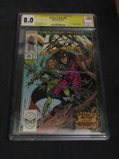 Uncanny X Men 266 CGC 8.0 SS Stan Lee Signed 1st Gambit 8/1990 Andy Kubert art