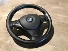 ROSSO-P ALCANTARA VOLANTE Volante in Pelle BMW M-Power e81 e82 con mascherina moltif