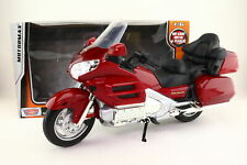 Motor Max 1:6 Scale; Honda Gold Wing Motorcycle; Metallic Red; Excellent Boxed