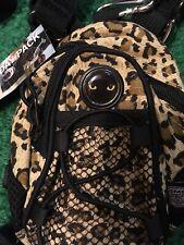 CMC camp mini day pack NEW NWT straps cheetah print travel gift teen CAT EYES