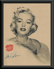 Marilyn Monroe Autograph Reprint & Photo On Old Paper *P066