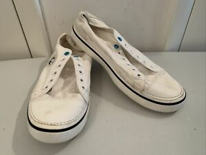 Crocs Hover Lace-Up Sneakers White Canvas Men's Casual Lightweight Shoes M 12