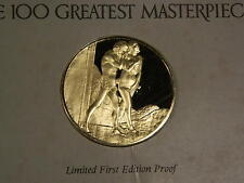 Expulsion FromParadise 100 Greatest Masterpieces Franklin mint sterling silver