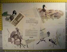 Vintage Valan Stieler Limited Edition Prints Signed Set of 4 (All 883/1000) 1979