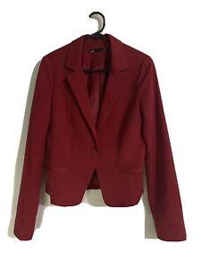 Red Wine Dotti Blazer Size S 8